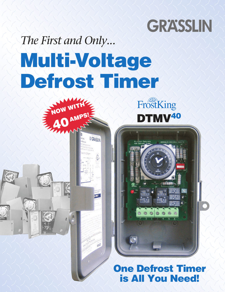 Multi Voltage Defrost Timer Precision Wiring Diagram