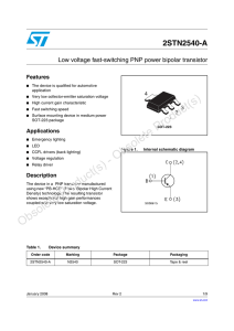 Low voltage fast-switching PNP power bipolar transistor