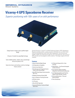 Viceroy-4 GPS Spaceborne Receiver