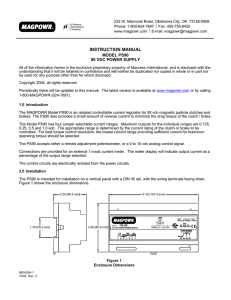 PS-90 Power Supply User Manual: MAGPOWR