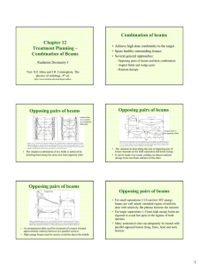 Chapter 12 Treatment Planning – Combination of Beams