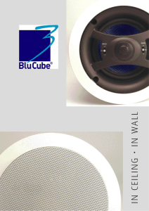 BluCube Leaflet - Ceiling Speakers