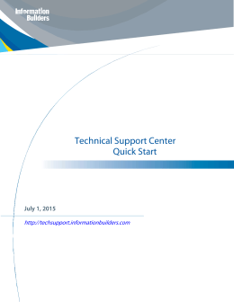 Technical Support Center Quick Start