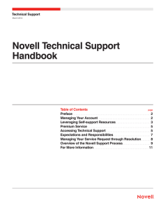Novell Technical Support Handbook