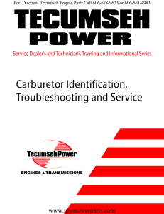Carburetor Identification, Troubleshooting and Service