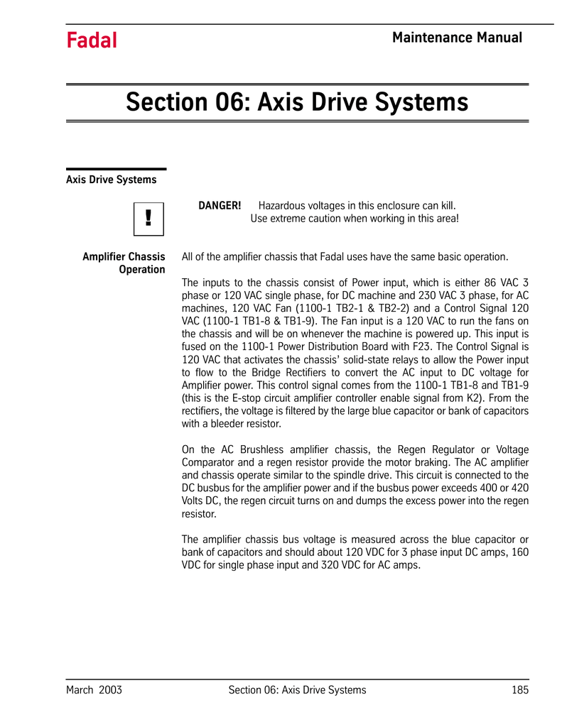 Section 06: Axis Drive Systems on