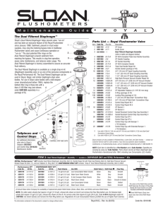 Royal Manual Flush Valve Maintenance Guide