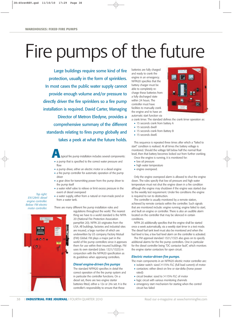 Fire pumps of the future - Industrial Fire Journal