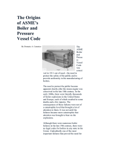 The Origins of ASME`s Boiler and Pressure Vessel
