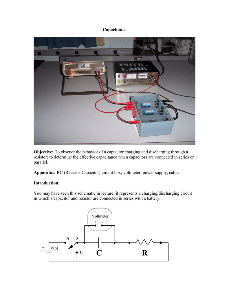 Brilliant Capacitance Objective To Observe The Behavior Of A Capacitor Wiring 101 Cajosaxxcnl
