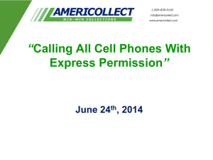 """Calling All Cell Phones With Express Permission"""