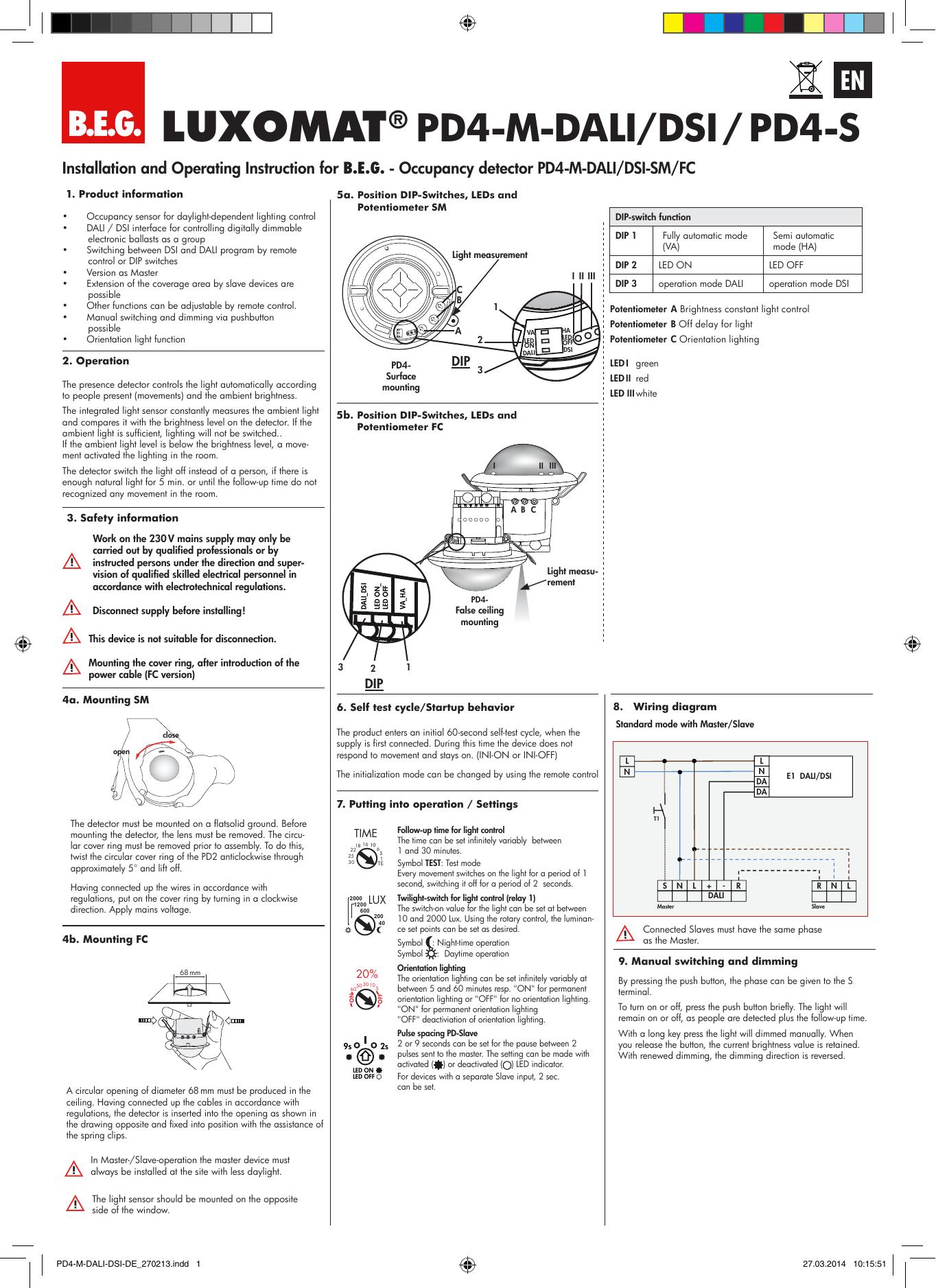 LUXOMAT® PD4-M-DALI/DSI / PD4-S on
