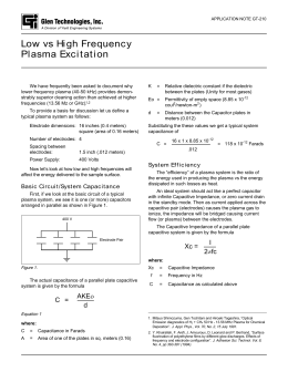Note GT 210 - Low vs High Frequency Plasma Excitation