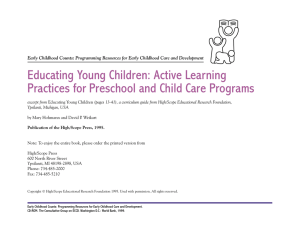 Educating Young Children: Active Learning Practices for Preschool