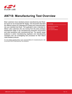 AN718: Manufacturing Test Overview