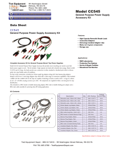 Data Sheet - Test Equipment Depot