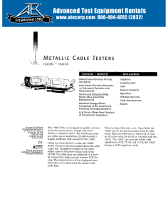 METALLIC CABLE TESTERS - Advanced Test Equipment Rentals
