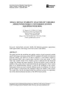 small signal stability analysis of variable speed wind