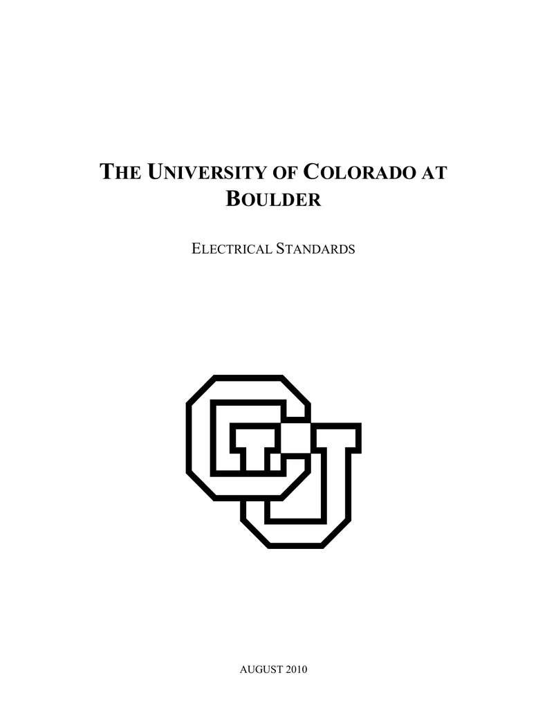 Electrical Standards 2010 - University of Colorado Boulder on
