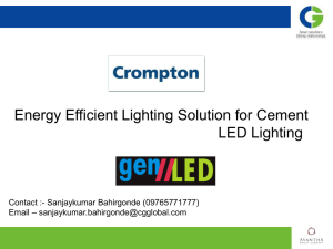 Energy Efficient Lighting Solution for Cement LED Lighting
