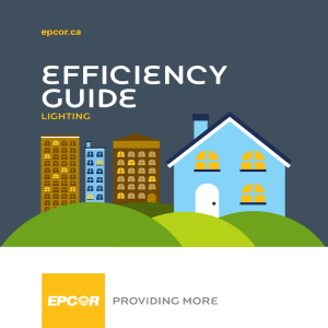 EPCOR Efficiency Guide: Lighting