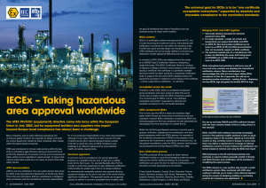 IeCex – Taking hazardous area approval worldwide