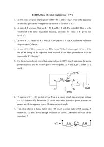 Home work 3 - Department of Electrical Engineering