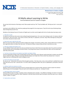 10 Myths about Learning to Write - National Council of Teachers of