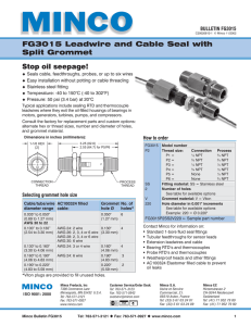 Bulletin FG3015 - FG3015 leadwire and Cable Seal with Split
