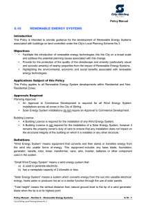 6.10 renewable energy systems