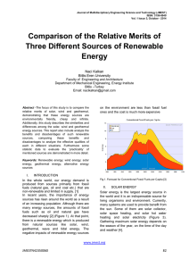 Comparison of the Relative Merits of Three Different Sources