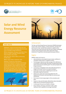 Solar and Wind Energy Resource Assessment