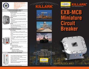 EXB-MCB Miniature Circuit Breaker