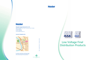 Nader Low Voltage Series - J