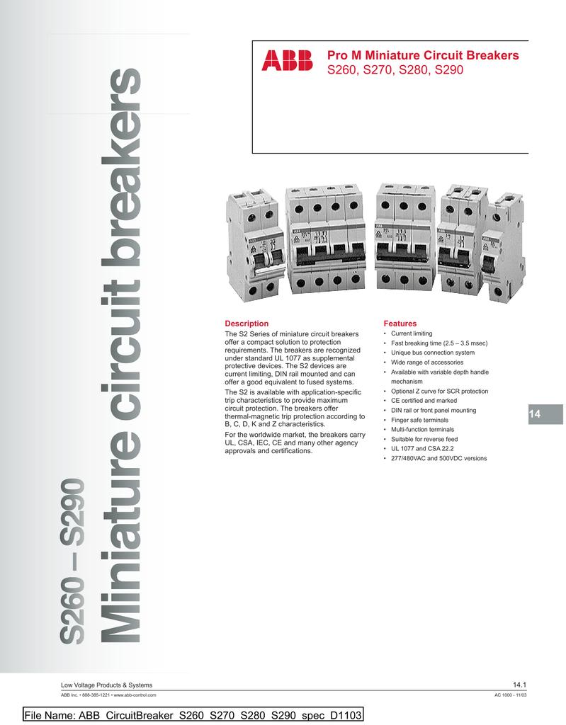 ABB S261 B50 Circuit Breaker 1 Pole 50 amps  Price is PER Breaker
