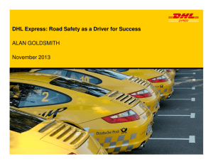 DHL Express: Road Safety as a Driver for Success ALAN