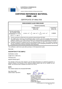 certified reference material irmm – 440 - Key-Mark