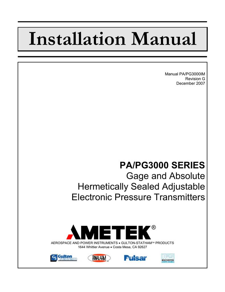 installation manual ametek power instruments rh studylib net Mopar Ignition  Modules Ford Ignition Module Schematic