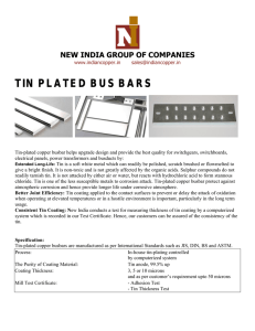 TIN PLATED BUS BARS
