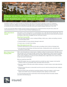 stray electric current safety checklist for marinas and yacht clubs