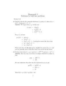Homework 3 Solutions to bold face problems