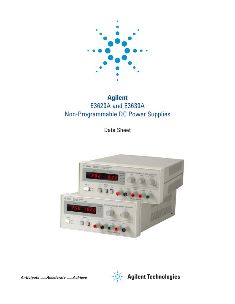 Agilent E3620A and E3630A Non-Programmable DC Power Supplies