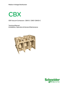 Medium Voltage Distribution CBX Vacuum Contactors CBX3