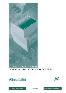 low voltage vacuum contactor