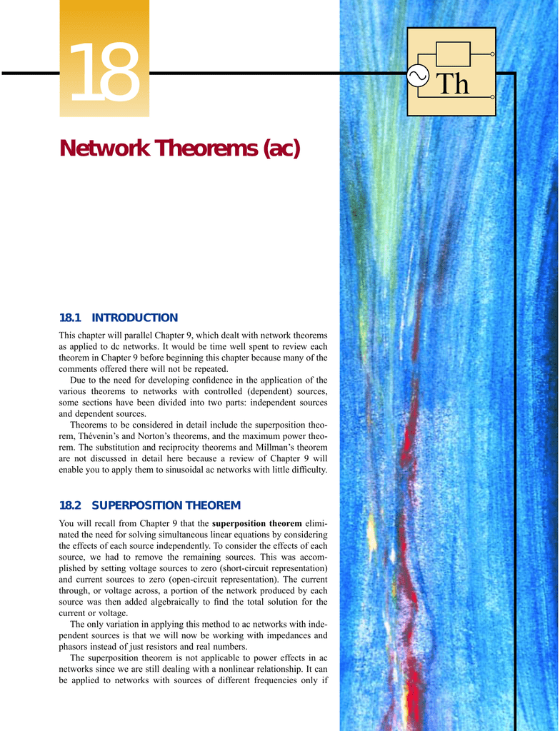 Network Theorems Ac Hint Consider The Thvenin Equivalent Circuit