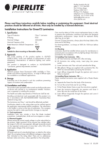 Installation Instructions for GreenT5 Luminaires