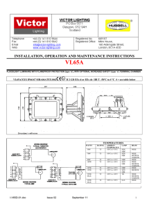 INSTALLATION, OPERATION AND MAINTENANCE INSTRUCTIONS