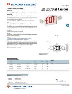 Lithonia ECG LED M6 LED Combination Exit Sign Spec Sheet