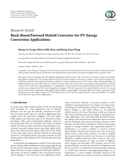 Buck-Boost/Forward Hybrid Converter for PV Energy Conversion
