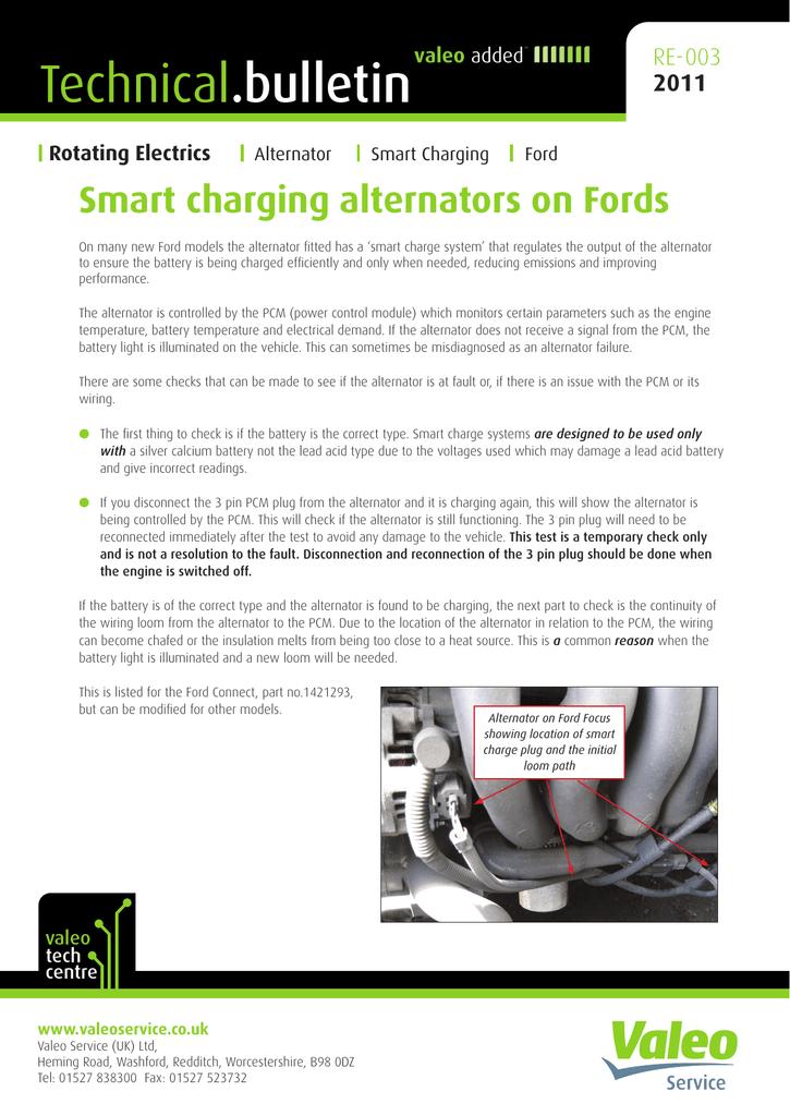 Smart charging alternators on Fords